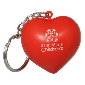 Heart Stress Reliever Key Chain