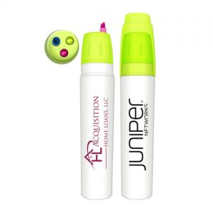 Twist Action 3 Color Retractable Highlighter