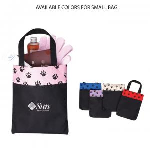 Puppy Paw Print Tote Bags