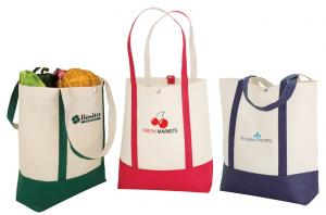Two-Tone Copy Canvas Poly Totes