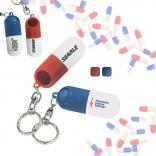 Pill Capsule Dispenser Key Chain