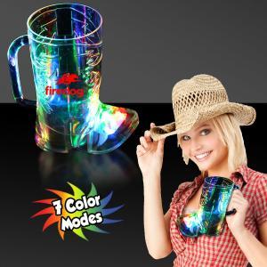 16 Oz. Cowboy Boot Shaped Rainbow Light Up Mug