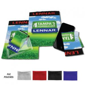 "6"" x 7"" Identity Microfiber Cleaning Cloths"