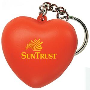 Heart Shaped Stress Reliever Keychain
