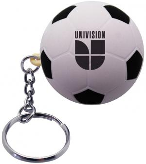 Soccer Ball Shaped Stress Reliever Keychain