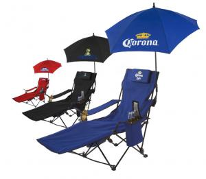 Custom Imprinted Drink Storing Lounge Chair with Umbrella