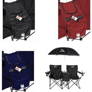Promotional Double Folding Chair With Umbrella