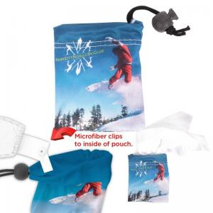 Microfiber Cloth in All Over Print Pouch
