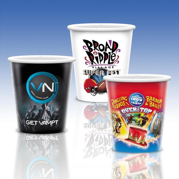 9 Oz. Full Color White Plastic Custom Cup
