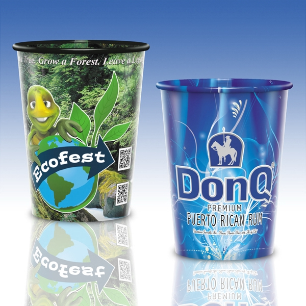 17 Oz. Full Color Reusable Clear Plastic Cup
