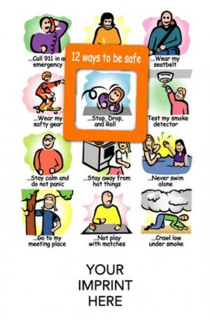 """""""12 Ways To Be Safe"""" Youth Safety Mood Magnet"""
