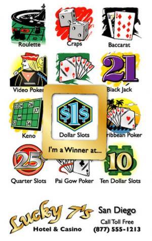 Casino Themed Mood Magnet