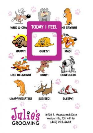 Dog Themed Mood Magnet