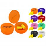Ear Plugs in Round Travel Case