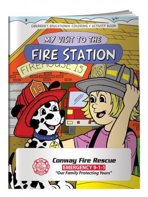 """""""My Visit To The Fire Station"""" Coloring Book"""