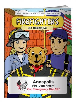 """""""Firefighters In Uniform"""" Coloring Book"""
