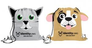 Puppy 'N Kitten Drawstring Bag