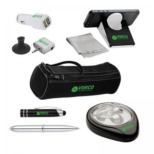 Mobile Accessory Travel Package in Zippered Case