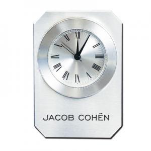 Metal and Glass Analog Alarm Clock
