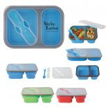 Dual Sided Food Container With Utensil
