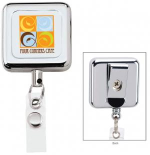 Full Color Square Metal Badge Reel