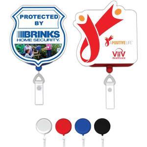 Full Color Custom Shape Retractable Badge Holder