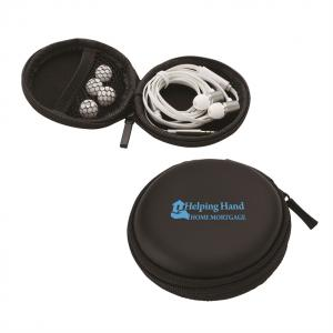 Earbuds In Zippered Case