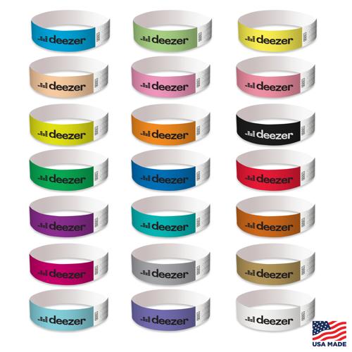 Custom Imprinted Tyvek ID Wristband