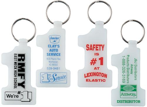 Number One Glow-in-the-Dark Key Tag