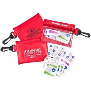 Vinyl First Aid Pouch w/ Carabiner