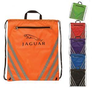 Reflective Poly Drawstring Bag