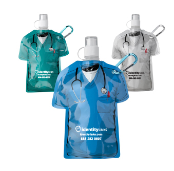 16 oz. Medical Scrubs Collapsible Water Bottle