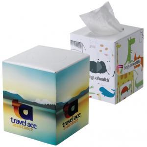Full Color Cube Tissue Box