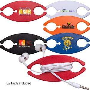 Pocket Earbud Caddy with Earbuds