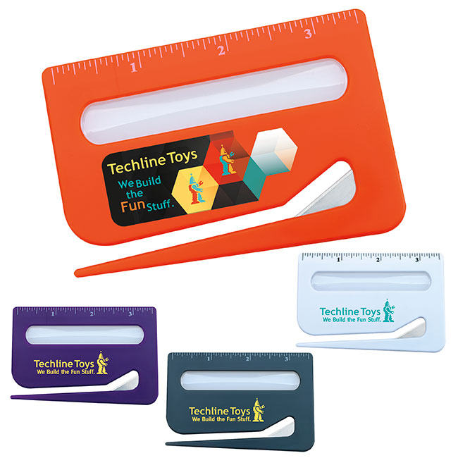 Color Magnifier Letter Opener With Ruler