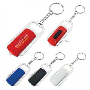 On-Track Bottle Opener LED Keychain