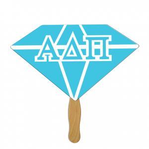 Wide Diamond Shaped Hand Fan