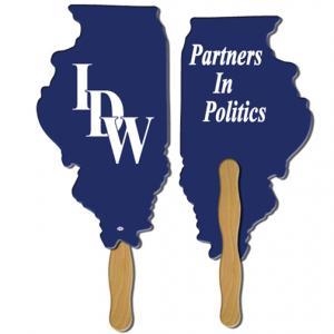 Illinois State Shaped Hand Fan