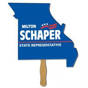 Missouri State Shaped Hand Fan