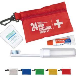 Translucent Dental Kit with Carabiner Clip