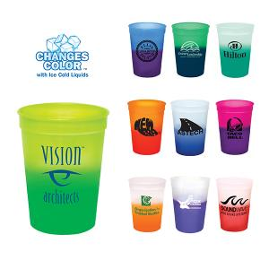 12 oz. Plastic Color Changing Stadium Cup