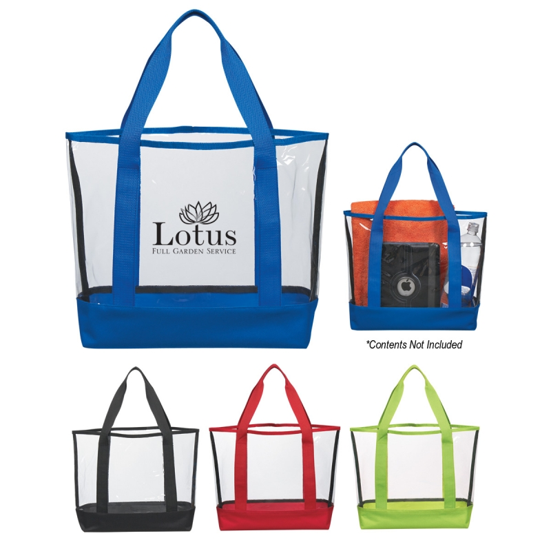Clear Color Accent Tote Bag