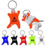 Music Fanatic Ear Bud Holder Keychain