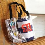 Black Handle Stadium Fan Tote