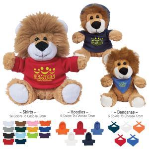 "6"" Furry Lion Plush"