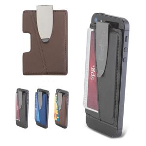 Vegan Leather Cell Phone Wallet Clip
