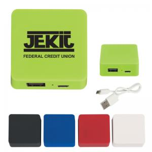 2000 mAh Rubberized Cell Phone Power Bank