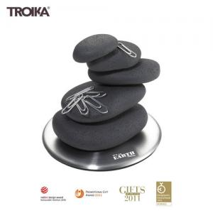 Stone Cairn Desk Paperweight Paper Clip Magnetic Puzzle