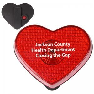 Heart Shaped Flashing Button