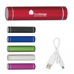 2,200 mAh Round Tube Aluminum Phone Charger